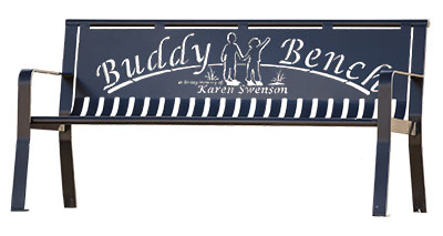 Custom Metal Buddy Benches For Schools