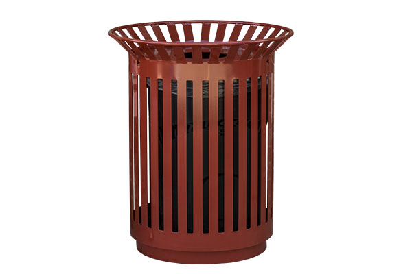 Metal Trash Receptacles For City Parks