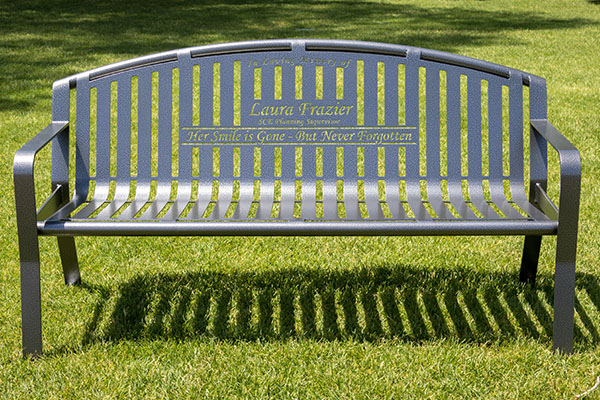 Silver Vein Powder Coated Benches