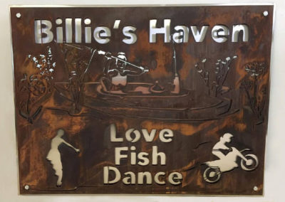 Billie Haven's Rustic Cabin Sign