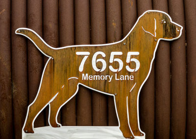 Custom Rustic Dog Address Signs