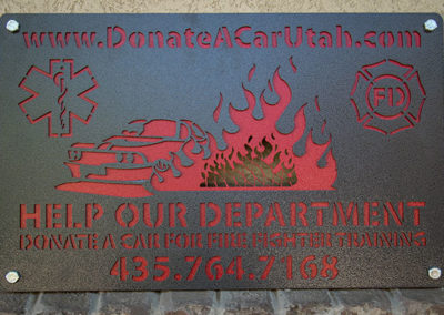 Fire Fighter Practice Cars Business Signs