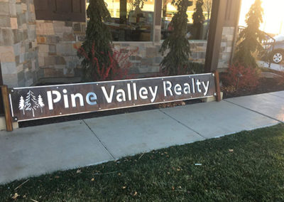 Pine Valley Realty Outdoor Sign