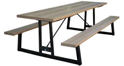 Aluminum Picnic Tables For City Parks