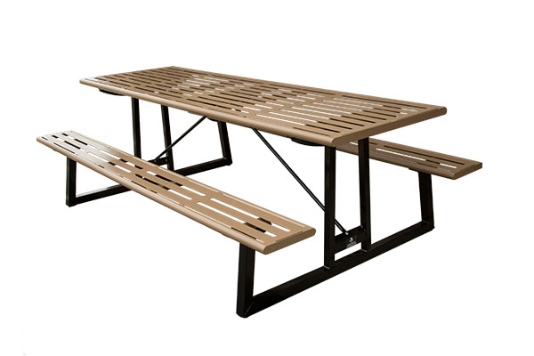 Picnic Tables With Slats