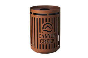 Laser Cut Metal Trash Receptacles
