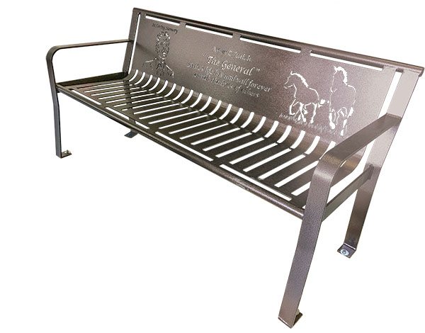 Custom Metal Dedicatory Benches