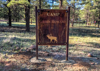 Durable Metal Camp Signs