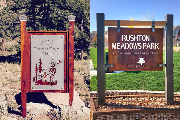 Outdoor Camp And Park Signs