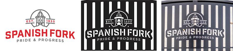 Spanish Fork City Logo Bench
