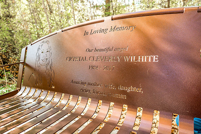Nature Setting Memorial Bench