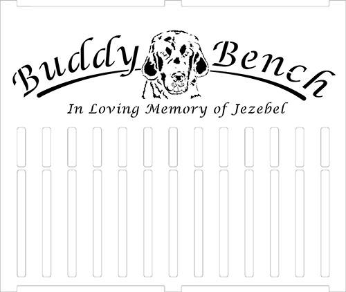 Pet Memorial Bench Draft Design