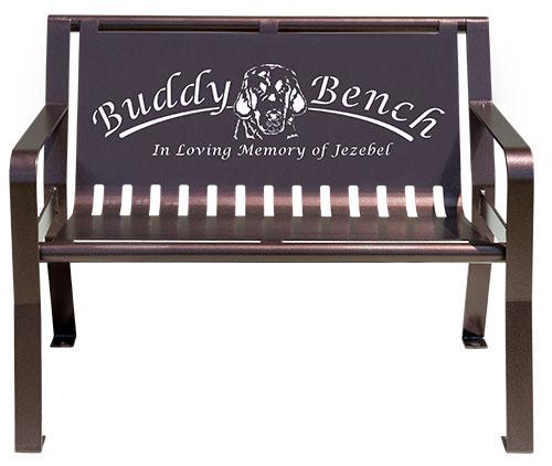 Steel Dog Buddy Bench