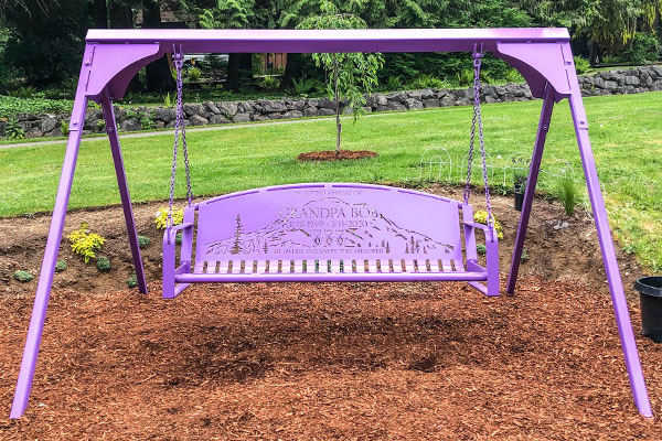Purple Powder Coated Swing Frames