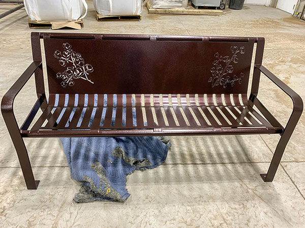 Custom Floral Laser Cut Benches