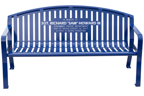 Blue Classic Arch Memory Benches