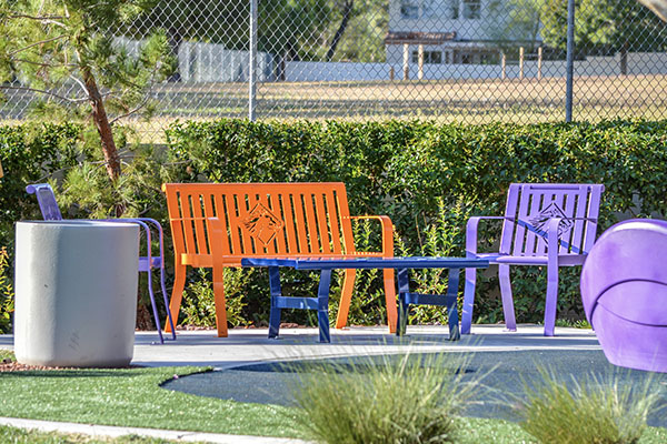 Custom Colored Park Benches