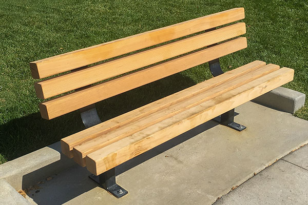 Wooden Back Steel Benches
