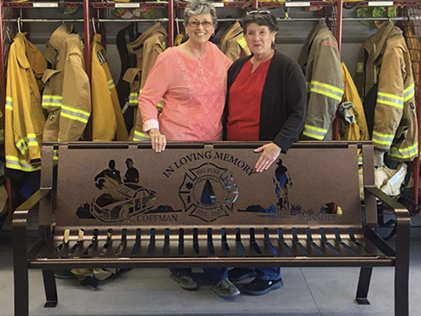 Firefighter Custom Memorial Benches