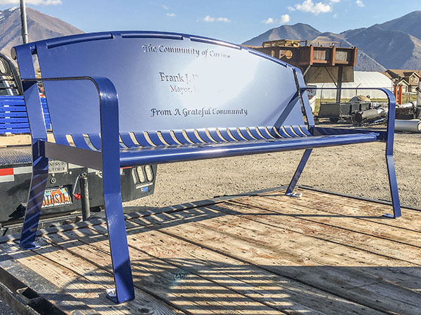 Powder Coat Community Blue Benches