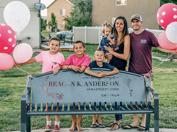 Powder Coated Memorial Memory Bench