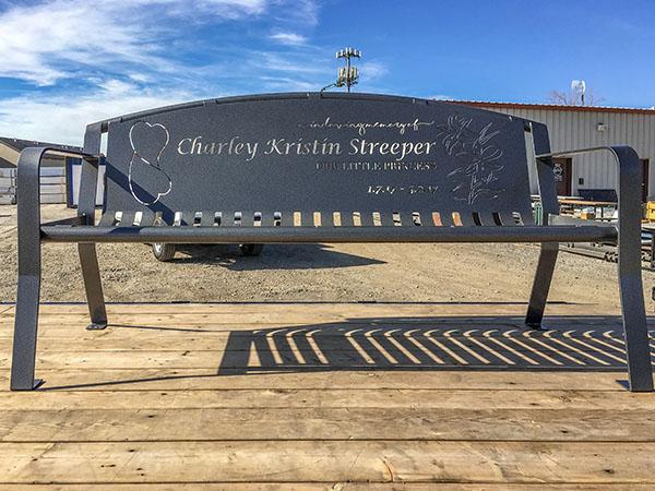 Streeper Outdoor Memorial Bench