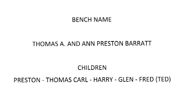Description For A Memorial Bench