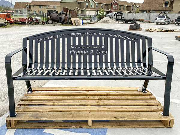 Metal Remembrance Benches