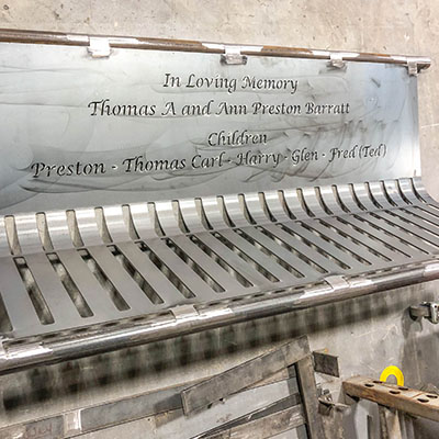 Memorial Benches After Being Bent