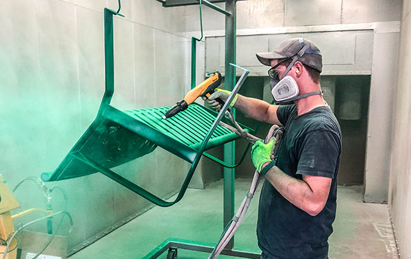 Powder Coating The Garden Benches