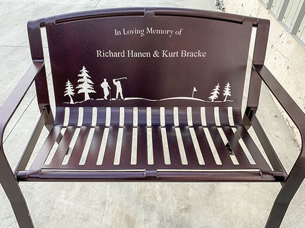 Sports Memorial Bench