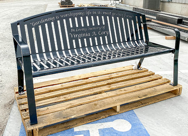 Steel Graveside Benches