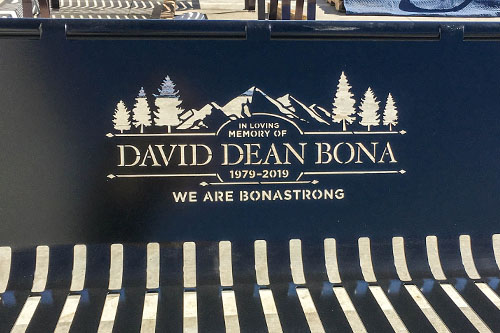 Black Bonastrong Memorial Bench