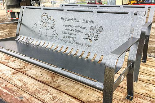 Custom Cremation Benches