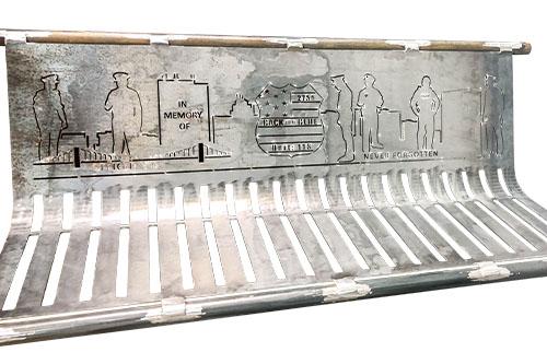 Laser Cut Metal Urn Benches