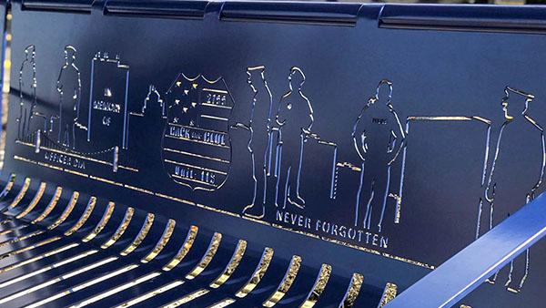 Urn Bench Back Design
