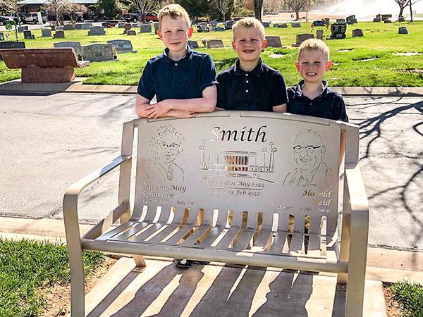 Grandparent Cemetery Bench