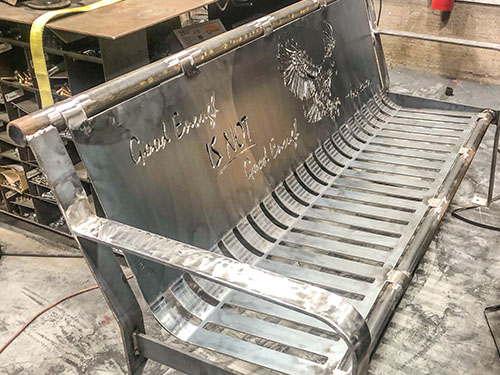 Personalized Urn Benches