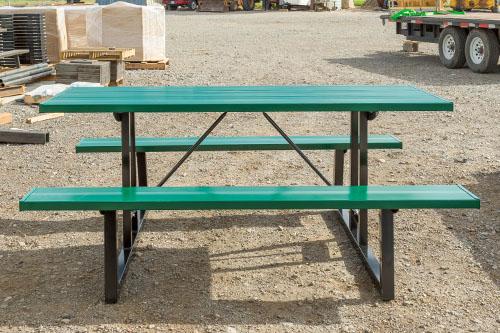 Powder Coated Green Aluminum Picnic Tables