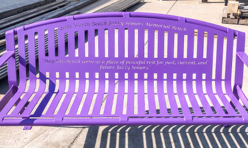 Purple Lilac Personalized Garden Bench
