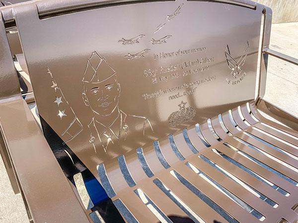 Airman Powder Coated Memorial Bench
