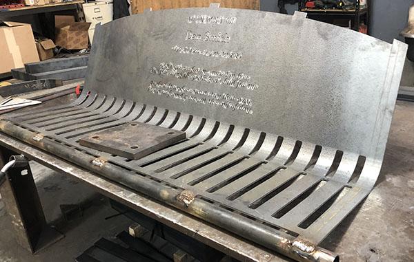 Bent Back Laser Cut Bench